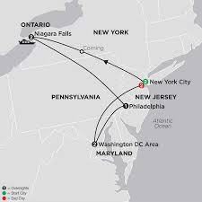 Philadelphia On Map United States Travel Packages Cosmos Eastern Us Tours