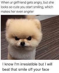 So Cute Meme Face - when ur girlfriend gets angry but she looks so cute you start