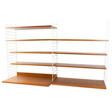 String Shelving by 1960s Swedish Shelving System Wall Unit By Nisse Nils Strinning