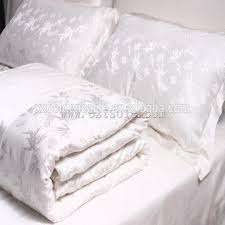 Jacquard Bedding Sets 100 Luxury White Silk Jacquard Bedding Set Global Sources