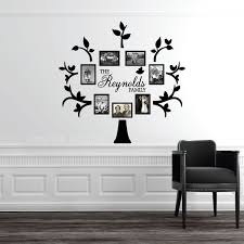 personalized last name family tree wall decal photo collage zoom