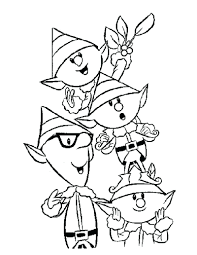 santa claus sleigh and reindeer coloring page elves source on his