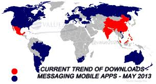 China On The World Map by App Value2020 Internet Market
