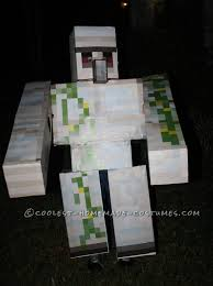 minecraft costume spirit halloween homemade minecraft iron golem costume