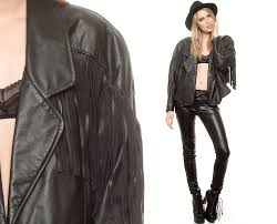 best mens leather motorcycle jacket fringe leather jacket 80s black biker jacket motorcycle coat