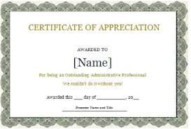 printable certificate of recognition templates certificate templates