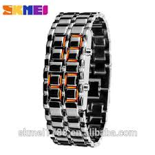 bracelet watches led images Skmei 8061 binary waterproof sports led couple watches bracelet jpg