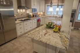granite countertop corner kitchen hutch cabinet travertine tile