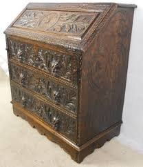 oak writing bureau uk heavily carved oak writing bureau 269262