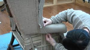 Reupholster Armchair Tutorial How To Reupholster A Wing Chair Pt 19 Youtube