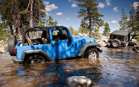blue grey jeep 2012 jeep wrangler first drive truck trend