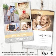 5x7 save the date postcard template engagement announcement