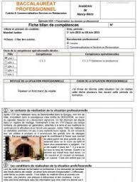 dossier bac pro cuisine hôtellerie restauration alimentation epreuve e22 le dossier dossier