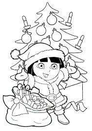 imagenes de navidad para colorear online dibujo para imprimir y colorear de dora la exploradora arbol d on