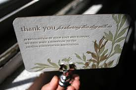 wedding gift donation to charity 1000 ideas about donation custom wedding donation favors wedding