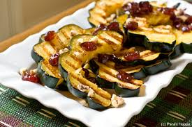 grilled acorn squash recipe with cranberry maple syrup