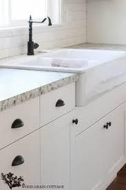 Black Antiqued Hardware For White Mission Style Cabinetry I Like - White kitchen cabinet hardware