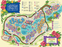 Port Orleans Riverside Map Caribbean Beach Resort Map Caribbean Beach Resort Pinterest
