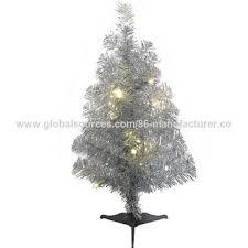 china 45cm artificial pvc silver tree mini indoor tree