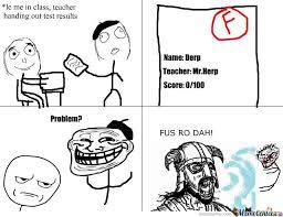 Fus Ro Dah Meme - fus ro dah test score by andrew mclellan meme center