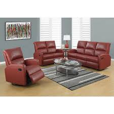 Modern Furniture Mn by Contemporary Full Leather Red Sofa Set 44l2540 Red Cabot Red