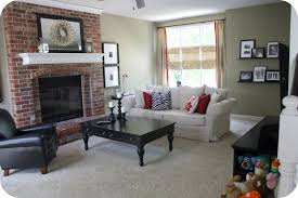 what color to paint living room with red brick fireplace rize