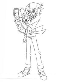 jaden yuki from yu gi oh coloring page free printable coloring