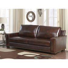 abbyson living bradford faux leather reclining sofa dark brown abbyson living bradford top grain leather sofa ebay