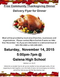 good thanksgiving dinner free community thanksgiving dinner the galena sentinel times