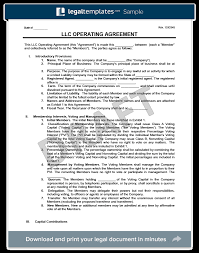 llc operating agreement template create a free llc agreement