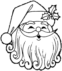 santa claus coloring pages 2 purple kitty