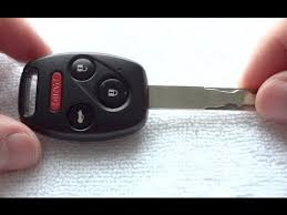 2006 honda accord battery how to replace honda accord civic cross tour pilot key fob battery