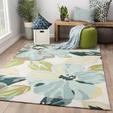Area Rugs Blue And Green Juniper Home Isidore Blue Green Handmade Floral Area Rug 7 6 X 9