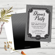 dinner party invitations stylish black white dinner party invitations partyinvitecards