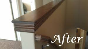 easy diy custom finishes to your handrail or half wall how to
