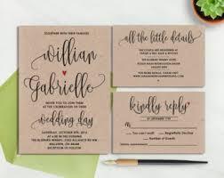 Rustic Wedding Invitation Rustic Wedding Invitation Etsy