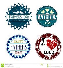 vector set vintage fathers day labels and icons stock vector