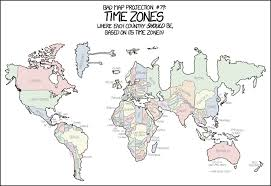 us map divided by time zones 1799 bad map projection time zones explain xkcd