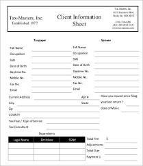 Salon Client Information Sheet Template Client Information Sheet Template