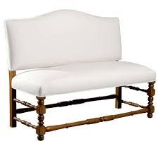 Curved Dining Bench Dining Room White Leather Upholstered Curved Dining Bench With Back