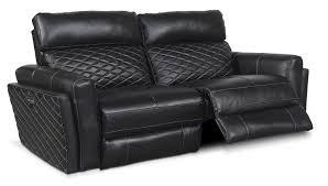 Powered Reclining Sofa 2 Power Reclining Sofa Black Value City
