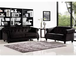 canapé 3 2 places tissu canapé 3 2 places tissu aspect velours noir vogue