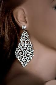large earrings big bridal earrings swarovski earrings wedding