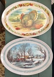 thanksgiving melamine plates melamine melmac kitchen u0026 tableware collectibles