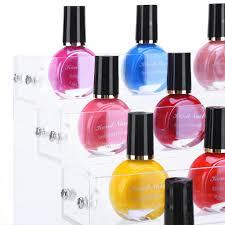 6 layers acrylic nail polish rack tabletop stand holder cosmetics