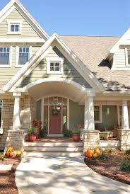 front porch entry exterior traditional with tapered columns shake