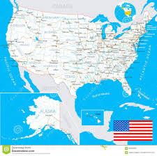Interstate Map Of United States by High Detail Usa Map For Each Country United States Of America Map