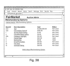 patent us8601373 network based sales system with customizable