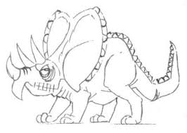 coloring sheets for children draw a small dinosaur tritseraptor