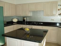aluminum backsplash kitchen white cabinets black galaxy granite aluminum backsplash images